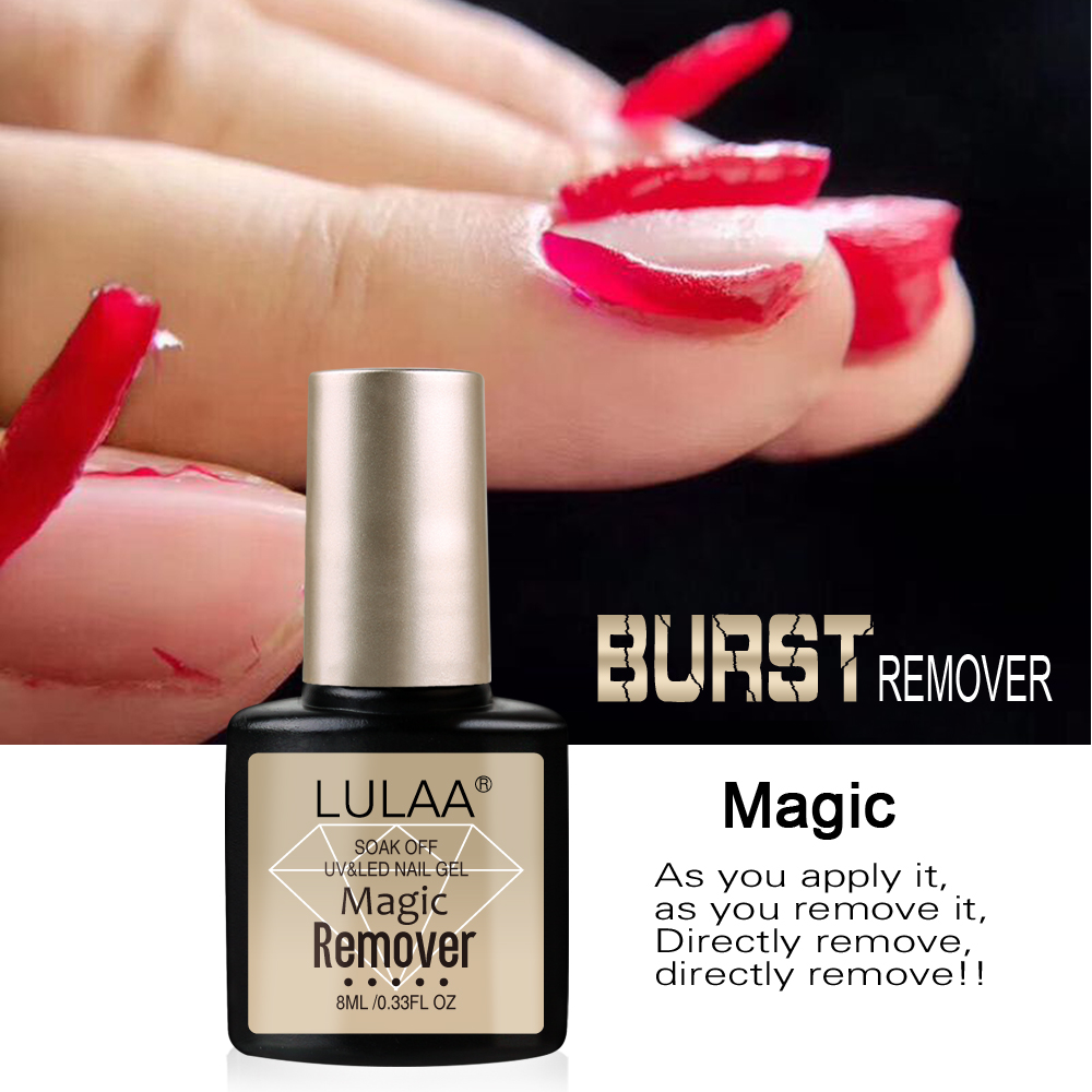 LULLA 2019 New Magic Burst Gel Nail Polish Remover Cleaner N