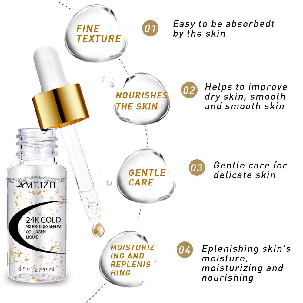AMEIZII 24k Gold Six Peptides Serum Lift Firming Treatment M